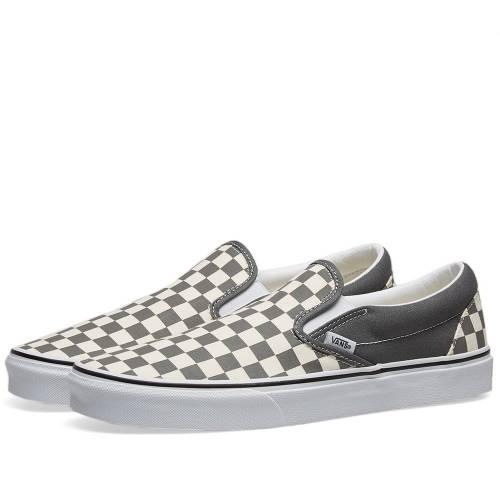 VANS VAULT バンズ クラシック スリッポン スニーカー メンズ 【 Vans Classic Slip-on 】 Pewter & White Checkerboard