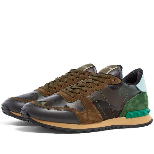 VALENTINO スニーカー メンズ 【 Rockrunner Sneaker 】 Army Green & Brushwood Camo