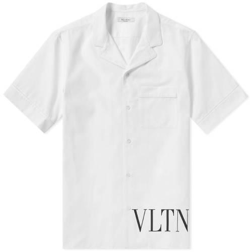 VALENTINO 【 VLTN VACATION SHIRT WHITE 】 メンズファッション トップス カジュアルシャツ 送料無料