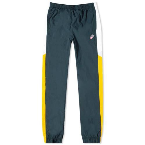 ナイキ NIKE ウーブン パンツ SEAWEED, &WHITE 【 WOVEN NIKE HERITAGE PANT GOLD 】 メンズファッション ズボン パンツ