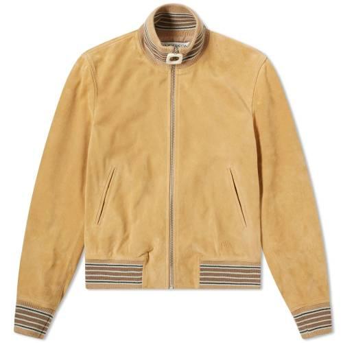 JW ANDERSON メンズファッション コート ジャケット メンズ 【 Neckband Bomber Jacket 】 Sand Suede