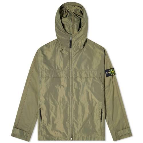 STONE ISLAND ミクロ メンズファッション コート ジャケット メンズ 【 Micro Reps Hooded Jacket 】 Olive