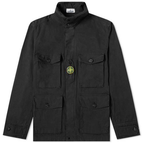 STONE ISLAND フィールド メンズファッション コート ジャケット メンズ 【 Cordura Field Jacket 】 Black