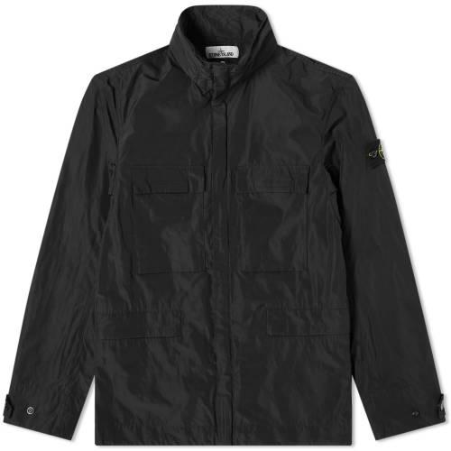 STONE ISLAND ミクロ メンズファッション コート ジャケット メンズ 【 Micro Reps 4 Pocket Jacket 】 Black