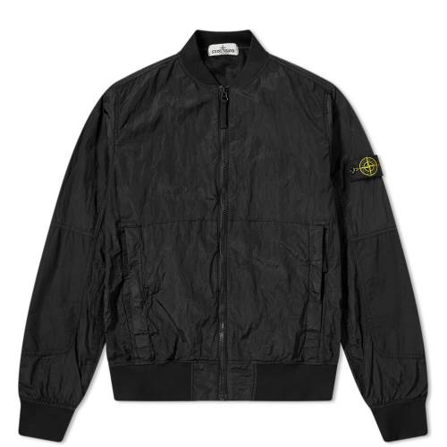 STONE ISLAND JUNIOR ナイロン メタル メンズファッション コート ジャケット メンズ 【 Nylon Metal Bomber Jacket 】 Black