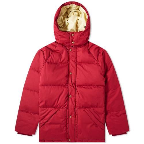 AIM・・ LEON DORE ダウン メンズファッション コート ジャケット メンズ 【 X Woolrich Hooded Down Coat 】 Red Wine