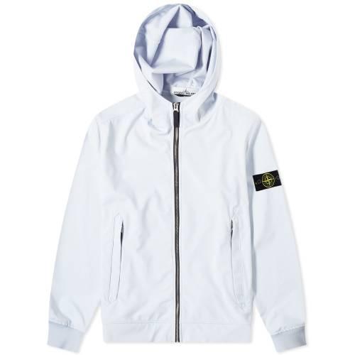 STONE ISLAND メンズファッション コート ジャケット メンズ 【 Lightweight Soft Shell-r Hooded Jacket 】 Sky Blue