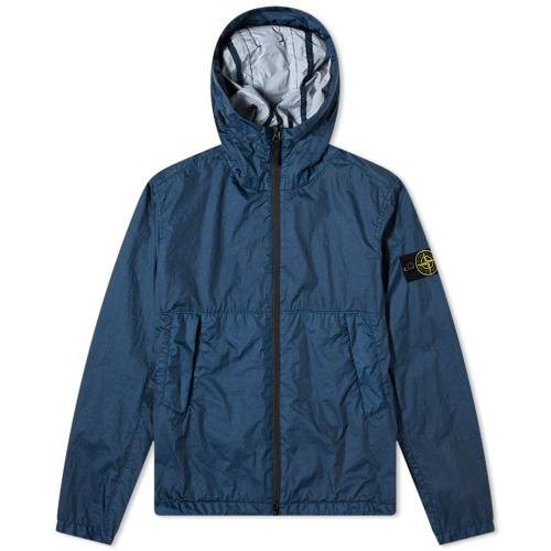 STONE ISLAND 【 MEMBRANA 3L TC HOODED JACKET BLUE MARINE 】 メンズファッション コート ジャケット 送料無料