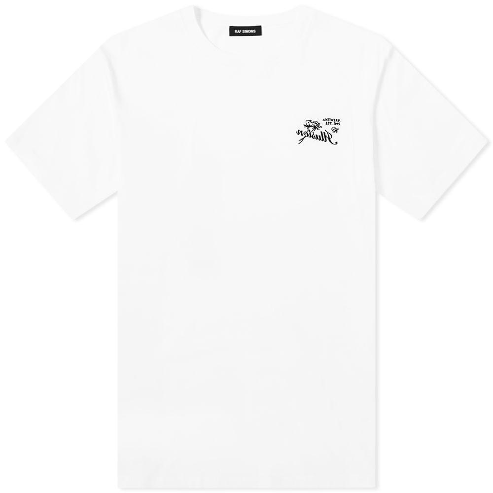 RAF SIMONS スリム 【 SLIM FIT ILLUSION TEE WHITE 】 メンズファッション トップス スウェット トレーナー 送料無料