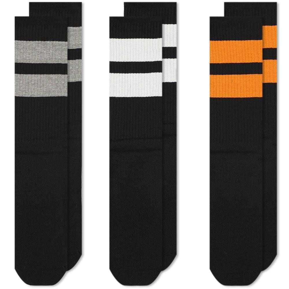 NEIGHBORHOOD クラシック インナー 下着 ナイトウエア メンズ 下 レッグ 【 Classic Sock - 3 Pack 】 Black