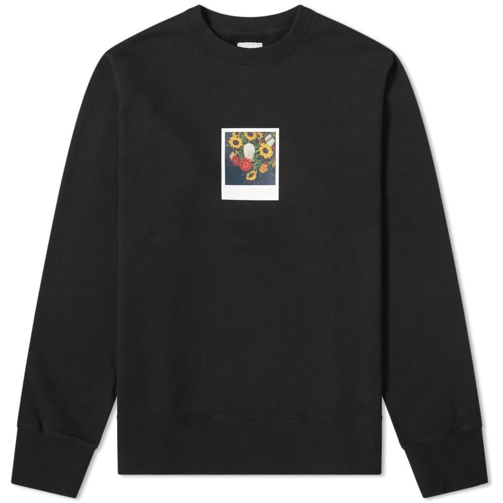 UNIFORM EXPERIMENT スウェット メンズファッション トップス トレーナー メンズ 【 X Araki Polaroid Crew Sweat 】 Black