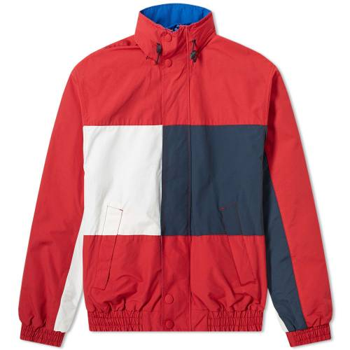 TOMMY JEANS リベンジ メンズファッション コート ジャケット メンズ 【 Reverse Flag Jacket 】 Jester Red & Multi