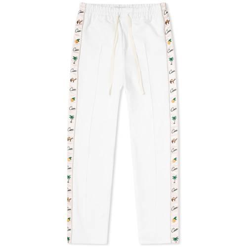CASABLANCA トラック パンツ 白 ホワイト 【 WHITE CASABLANCA APRES MER TRACK PANT 】 メンズファッション ズボン パンツ