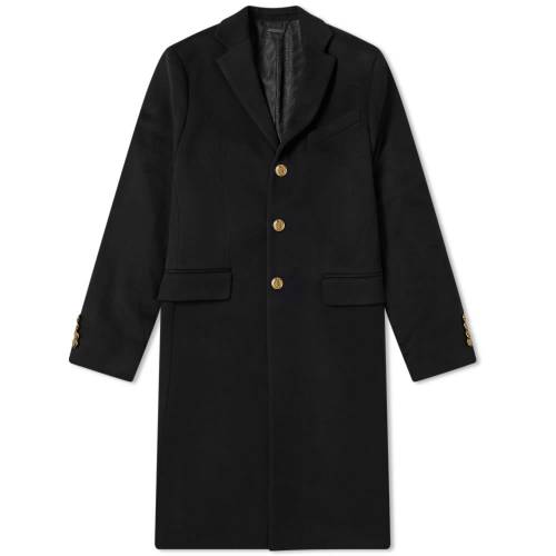 GIVENCHY 【 WOOL CASHMERE CHESTERFIELD COAT BLACK 】 メンズファッション コート ジャケット 送料無料