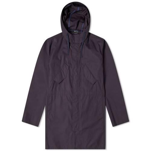 A.P.C. メンズファッション コート ジャケット メンズ 【 Benett Parka 】 Dark Navy