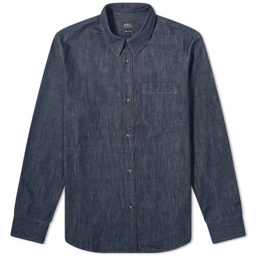 A.P.C. デニム メンズファッション コート ジャケット メンズ 【 Trek Denim Overshirt 】 Indigo