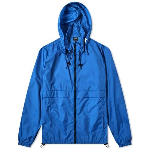 A.P.C. ウィンドブレーカー メンズファッション コート ジャケット メンズ 【 Miles Zip Windbreaker 】 Dark Blue