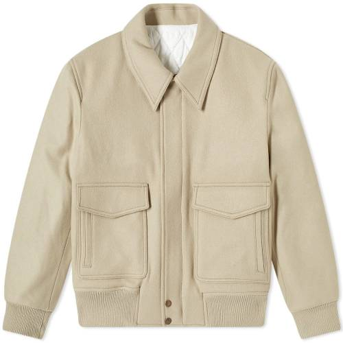 AMI メンズファッション コート ジャケット メンズ 【 Zipped Wool Jacket 】 Camel