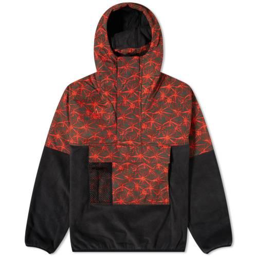 ナイキ NIKE フリース メンズファッション コート ジャケット メンズ 【 Acg Aop Halfzip Fleece Anorak 】 Black & Rush Red