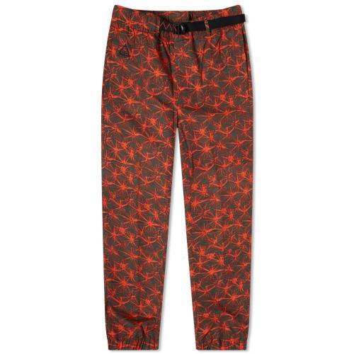 ナイキ NIKE パンツ ラッシュ 赤 レッド 黒 ブラック & 【 RUSH RED BLACK NIKE ACG AOP TRAIL PANT 】 メンズファッション ズボン パンツ