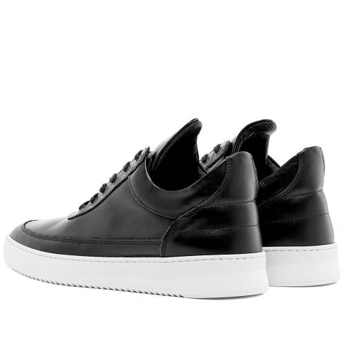 FILLING PIECES 黒 ブラック スニーカーBLACK FILLING PIECES LOW TOP SNEAKER RIPPLEメンズ スニーカーPn08wkO