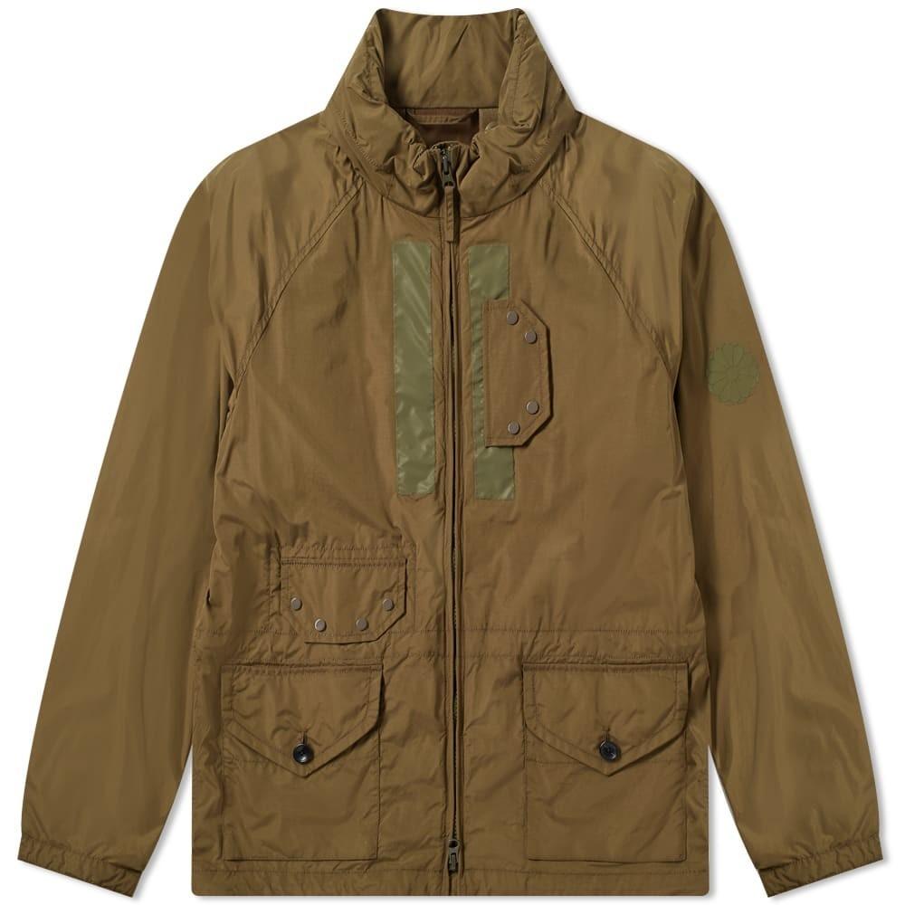TEN C 紺 ネイビー メンズファッション コート ジャケット メンズ 【 Navy Ii Zip Through Reflective Panel Jacket 】 Olive