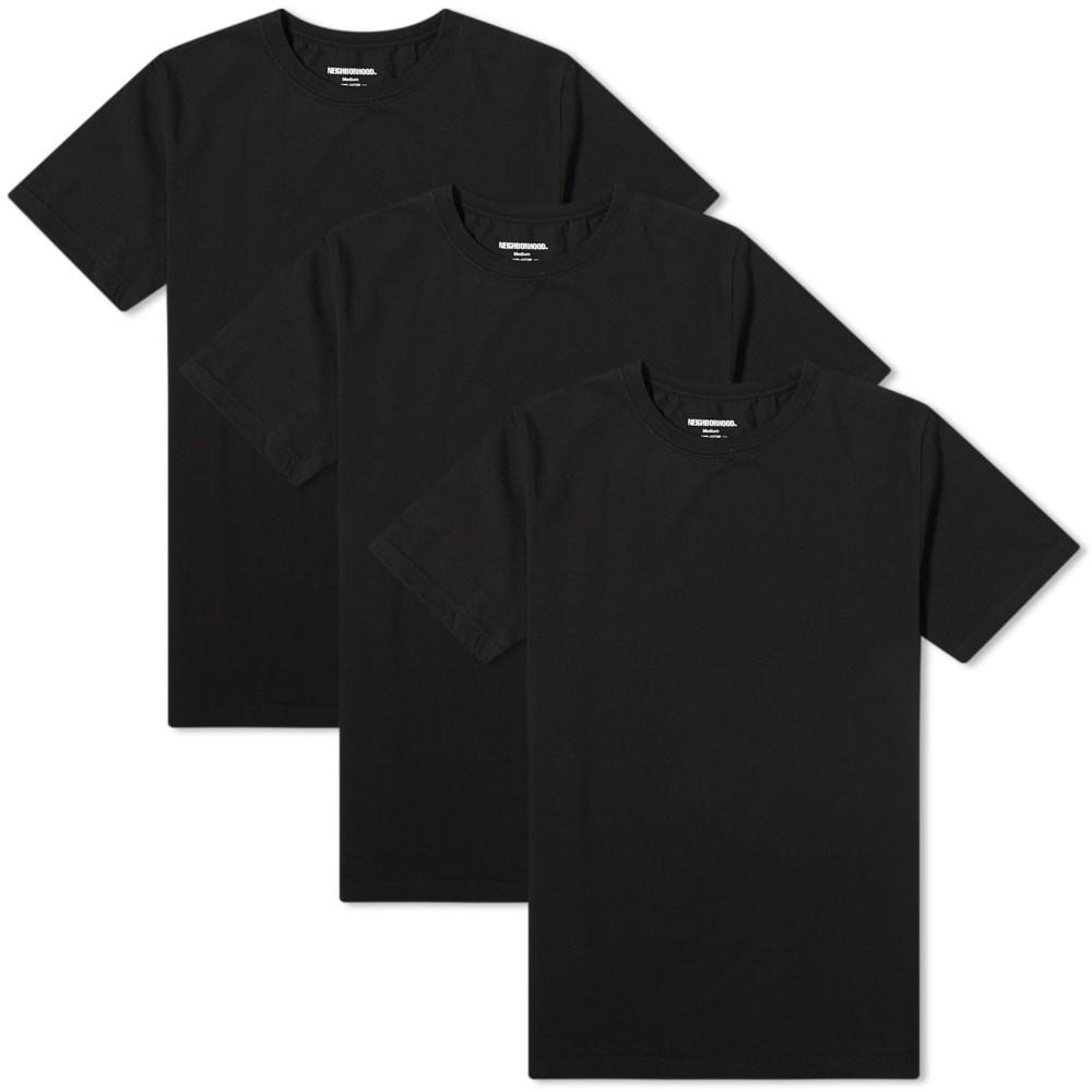 【スーパーセール中! 6/11深夜2時迄】NEIGHBORHOOD クラシック Tシャツ メンズファッション トップス カットソー メンズ 【 Classic Tee - 3 Pack 】 Black