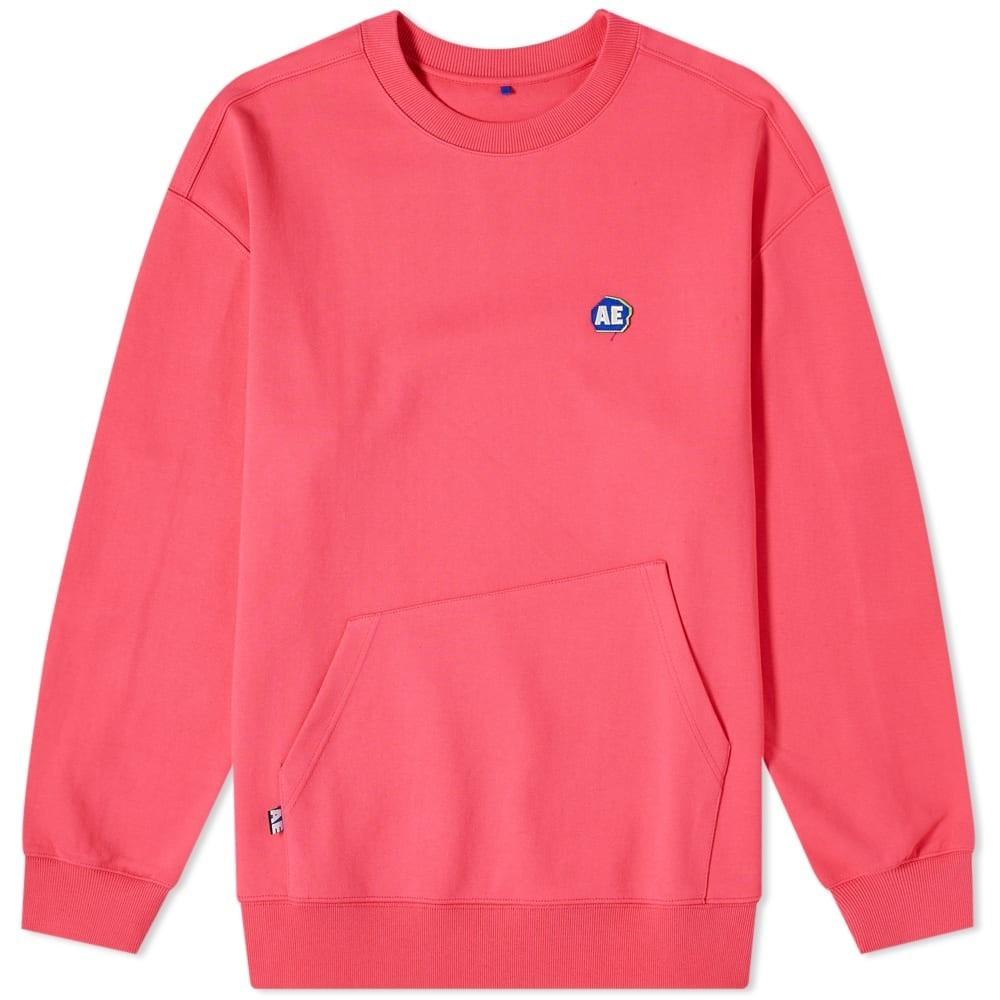 ADER ERROR ロゴ スウェット メンズファッション トップス トレーナー メンズ 【 Ae Logo Crew Sweat 】 Pink