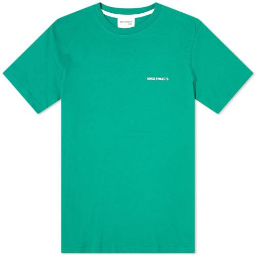 NORSE PROJECTS ロゴ Tシャツ 緑 グリーン 白 ホワイト END. & 【 GREEN WHITE NORSE PROJECTS NIELS LOGO TEE EXCLUSIVE SPORTING 】 メンズファッション トップス Tシャツ カットソー