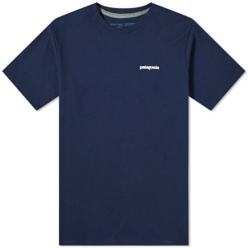 PATAGONIA ロゴ クラシック 紺 ネイビー 【 NAVY PATAGONIA P6 LOGO RESPONSIBILITEE CLASSIC 】 メンズファッション トップス Tシャツ カットソー