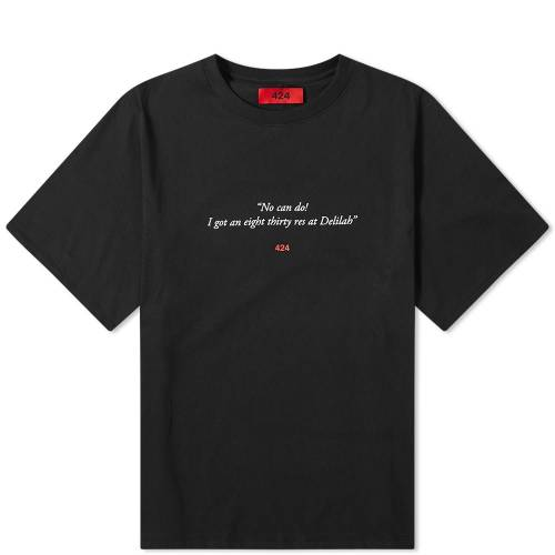 424 Tシャツ 黒 ブラック 【 BLACK 424 DELILAH TEE 】 メンズファッション トップス Tシャツ カットソー