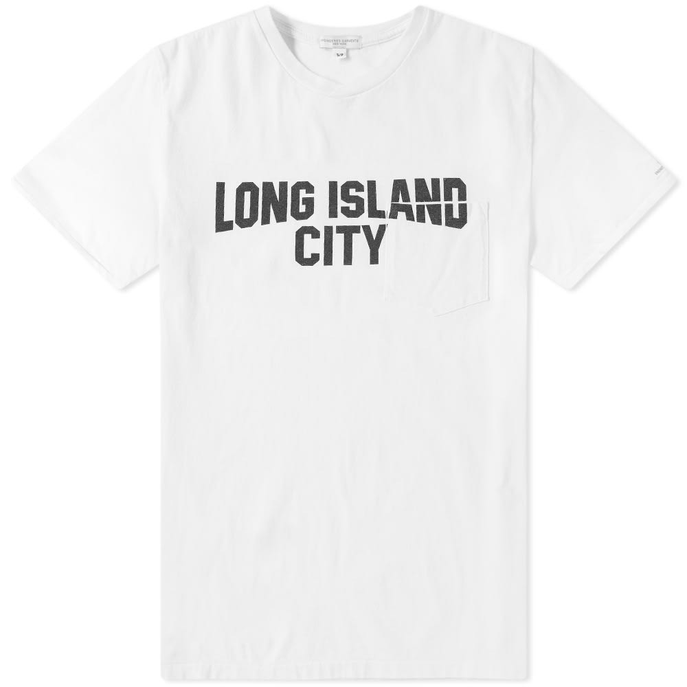 ENGINEERED GARMENTS 【 LONG ISLAND TEE WHITE 】 メンズファッション トップス カジュアルシャツ 送料無料