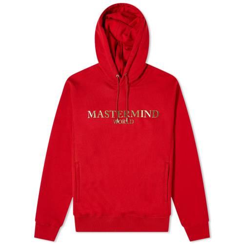 MASTERMIND WORLD ロゴ フーディー パーカー 赤 レッド 【 RED MASTERMIND WORLD FOIL LOGO POPOVER HOODY 】 メンズファッション トップス