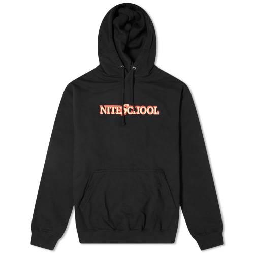 JUNIOR EXECUTIVE フーディー パーカー 黒 ブラック 【 BLACK JUNIOR EXECUTIVE NITE SCHOOL HOODY 】 メンズファッション トップス
