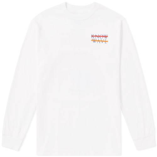 KNOW WAVE ウェーブ ウェイブ スリーブ Tシャツ 白 ホワイト 【 WAVE SLEEVE WHITE KNOW LONG SEASONS TEE 】 メンズファッション トップス Tシャツ カットソー