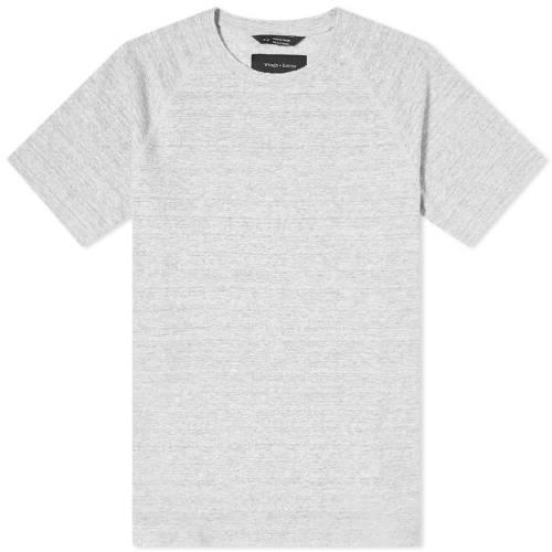 WINGS + HORNS ニット Tシャツ GRAY灰色 グレイ + 【 GREY WINGS HORNS LOOP KNIT TEE STATIC 】 メンズファッション トップス Tシャツ カットソー