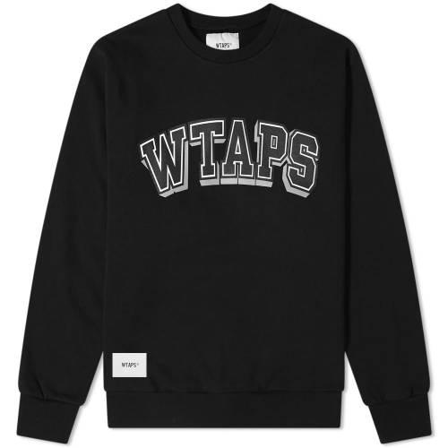 WTAPS スウェット 黒 ブラック DAWN. 【 SWEAT BLACK WTAPS DESIGN 】 メンズファッション トップス