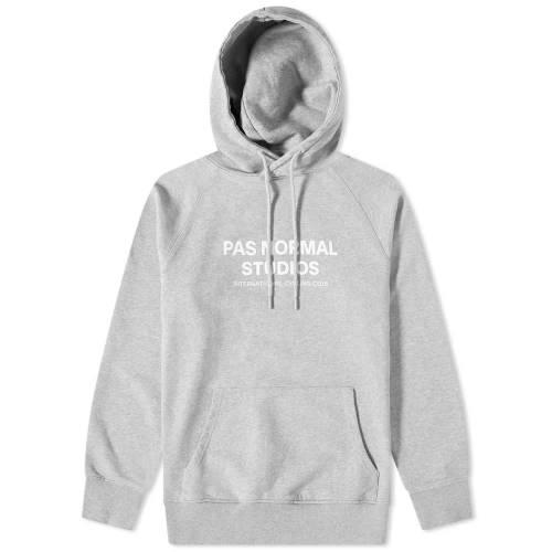PAS NORMAL STUDIOS ロゴ フーディー パーカー GRAY灰色 グレイ 【 GREY PAS NORMAL STUDIOS LOGO HOODY 】 メンズファッション トップス