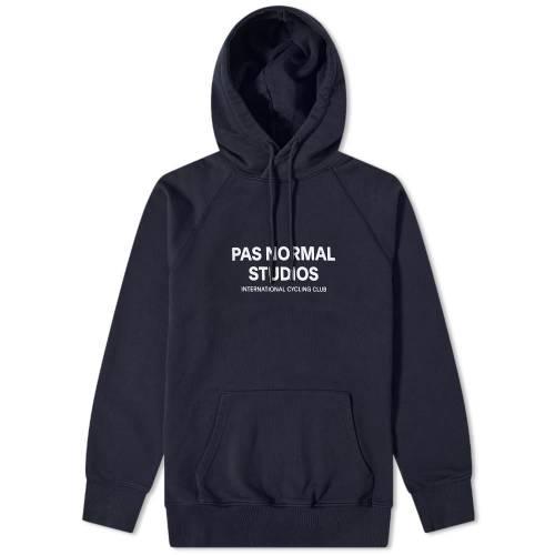 PAS NORMAL STUDIOS ロゴ フーディー パーカー 紺 ネイビー 【 NAVY PAS NORMAL STUDIOS LOGO HOODY 】 メンズファッション トップス