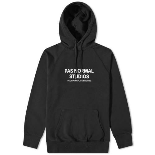 PAS NORMAL STUDIOS ロゴ フーディー パーカー 黒 ブラック 【 BLACK PAS NORMAL STUDIOS LOGO HOODY 】 メンズファッション トップス