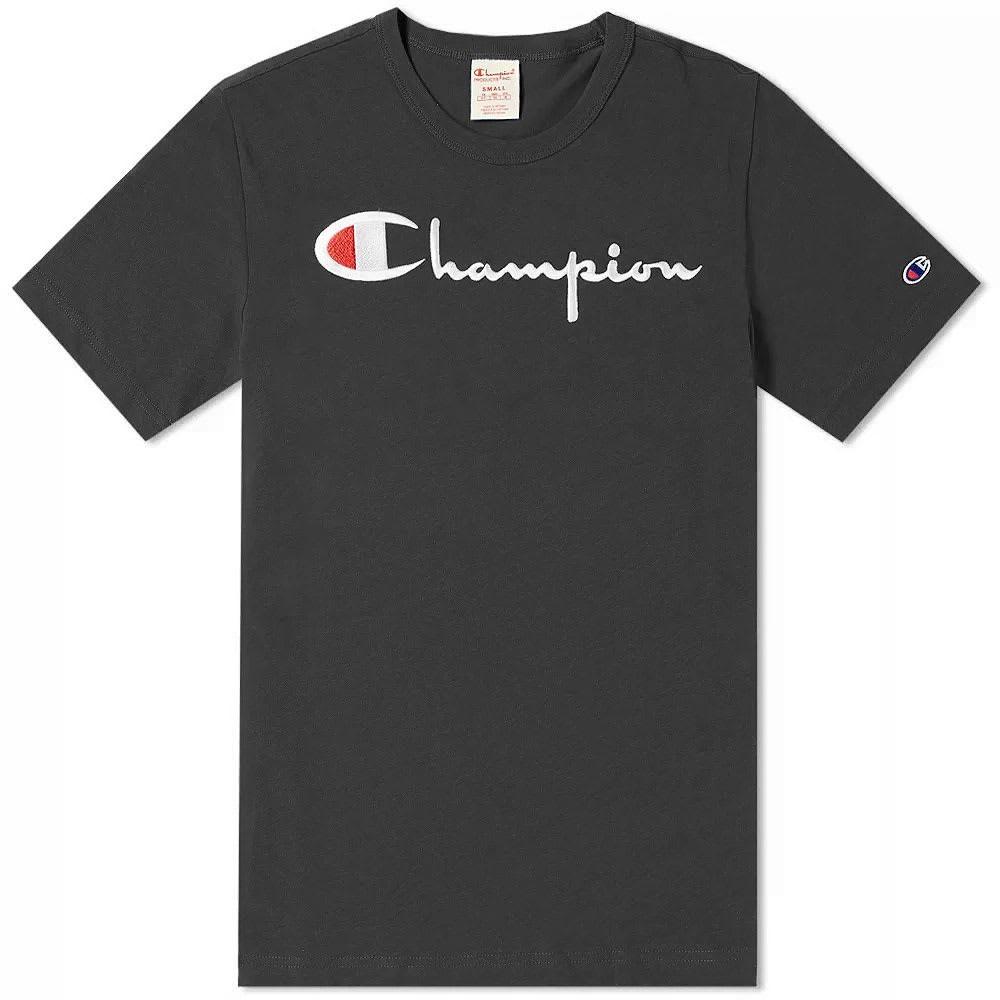 【NeaYearSALE1/1-1/5】CHAMPION REVERSE WEAVE チャンピオン リベンジ スクリプト ロゴ 【 SCRIPT LOGO TEE BLACK 】 メンズファッション トップス Tシャツ カットソー 送料無料