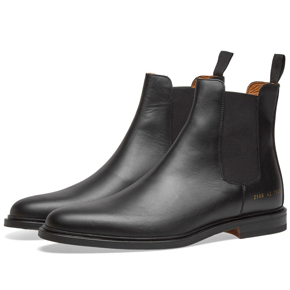 COMMON PROJECTS ブーツ メンズ 【 Chelsea Boot 】 Black Leather