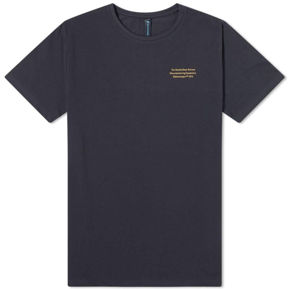 【NeaYearSALE1/1-1/5】KL?TTERMUSEN ロゴ 【 RUNA STATEMENT LOGO TEE RAVEN 】 メンズファッション トップス Tシャツ カットソー 送料無料