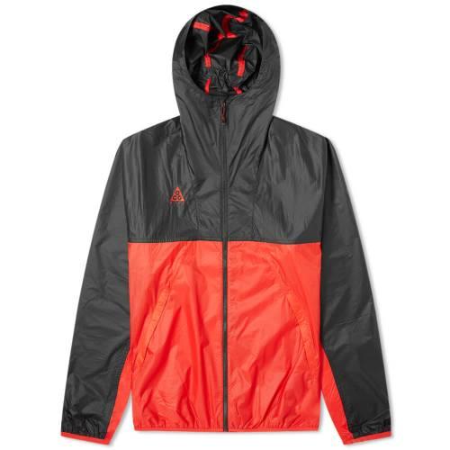 ナイキ NIKE 赤 レッド 黒 ブラック & 【 RED BLACK NIKE ACG LIGHTWEIGHT JACKET UNIVERSITY 】 メンズファッション コート ジャケット
