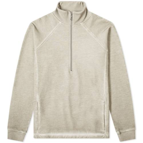 FOLK スウェット 【 SWEAT FOLK COLD DYE RIVET QUARTER ZIP ASH 】 メンズファッション トップス