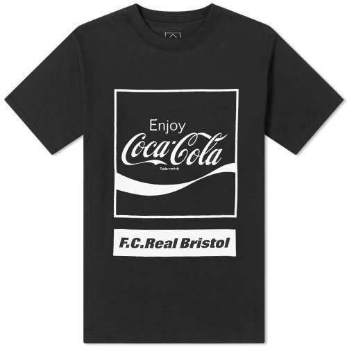 F.C. REAL BRISTOL ブリストル ボックス ロゴ Tシャツ 黒 ブラック F.C. 【 BLACK REAL BRISTOL X COCACOLA BOX LOGO TEE 】 メンズファッション トップス Tシャツ カットソー