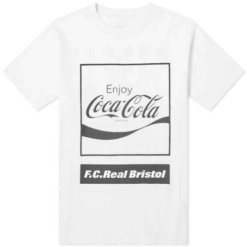 F.C. REAL BRISTOL ブリストル ボックス ロゴ Tシャツ 白 ホワイト F.C. 【 WHITE REAL BRISTOL X COCACOLA BOX LOGO TEE 】 メンズファッション トップス Tシャツ カットソー