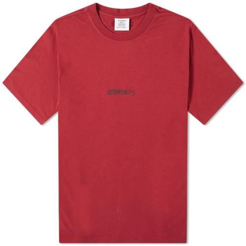 VETEMENTS ロゴ Tシャツ 【 VETEMENTS JEANS LOGO TEE BORDEAUX 】 メンズファッション トップス Tシャツ カットソー