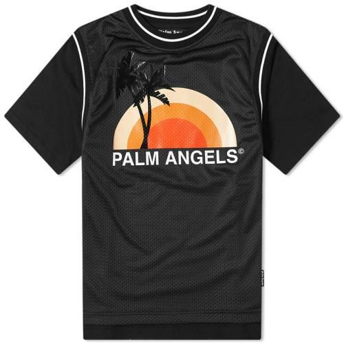 PALM ANGELS エンジェルス Tシャツ 黒 ブラック 【 ANGELS BLACK PALM LAYERED SUNSET TEE MULTI 】 メンズファッション トップス Tシャツ カットソー