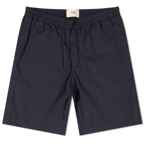 FOLK ナイロン 紺 ネイビー 【 NAVY FOLK NYLON SHORT 】 メンズファッション ズボン パンツ